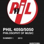 I'm Teaching Philosophy of Music This Summer