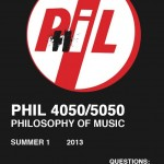 I'm Teaching Philosophy of Music This Summer